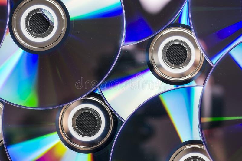 Dischi multipli del dvd fotografia stock libera da diritti