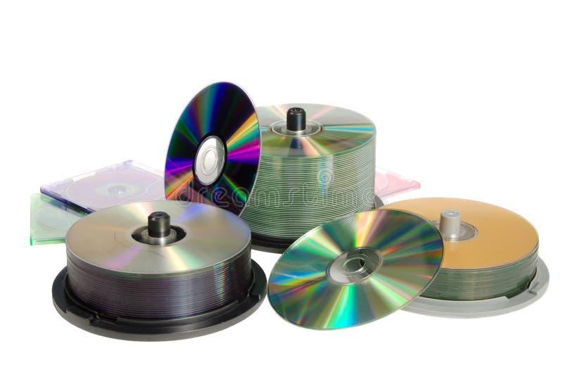 Dischi per registrazione dell'informazione immagine stock