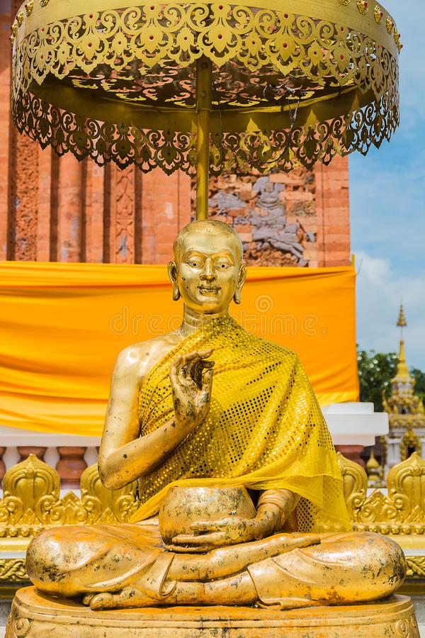 The disciple of buddha statue royalty free stock images