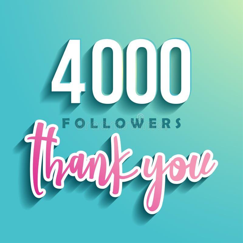 4000 disciples vous remercient illustration stock