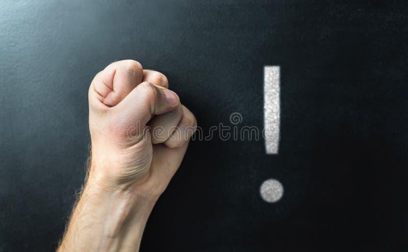 Disciplina, distinzione e comportamento alla scuola Smetta di opprimere fotografia stock libera da diritti