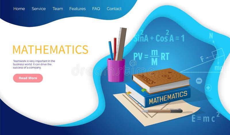 Discipline d'école d'algèbre et de géométrie de mathématiques illustration libre de droits