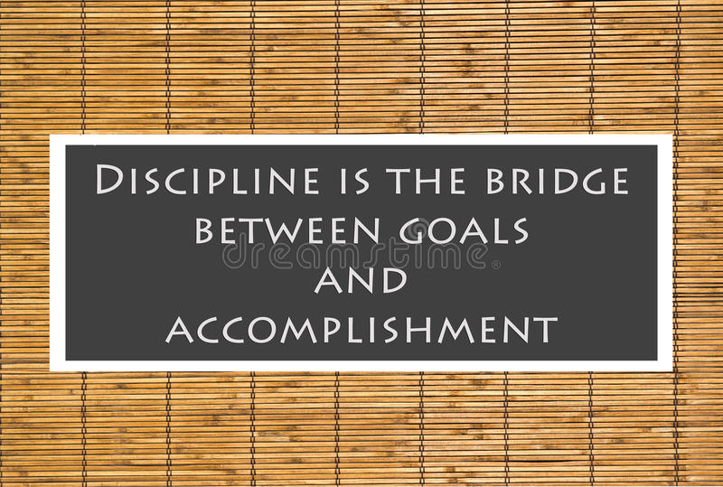 Download Discipline Poster stock photo. Image of bamboo, poster - 24536972