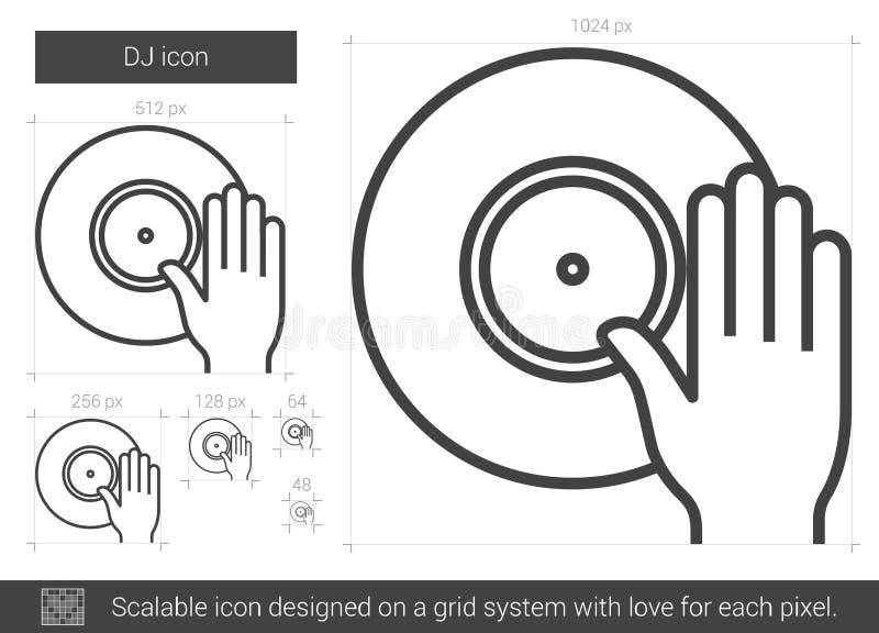 discjockeylinje symbol vektor illustrationer