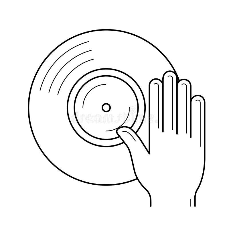 discjockeyn remix linjen symbol royaltyfri illustrationer