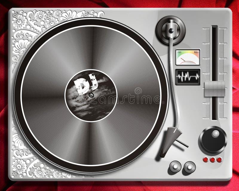 discjockeypultkontrollant eller discjockeykontrollillustration royaltyfri illustrationer