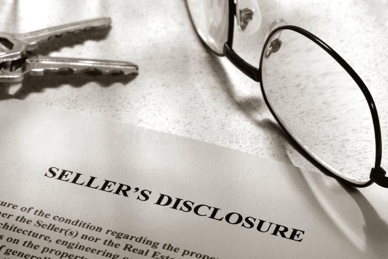 disclosure estate real seller statement arkivbild