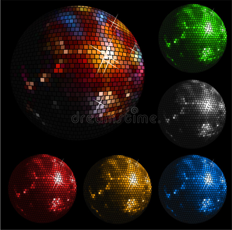 disco świecąca balowa ilustracja wektor