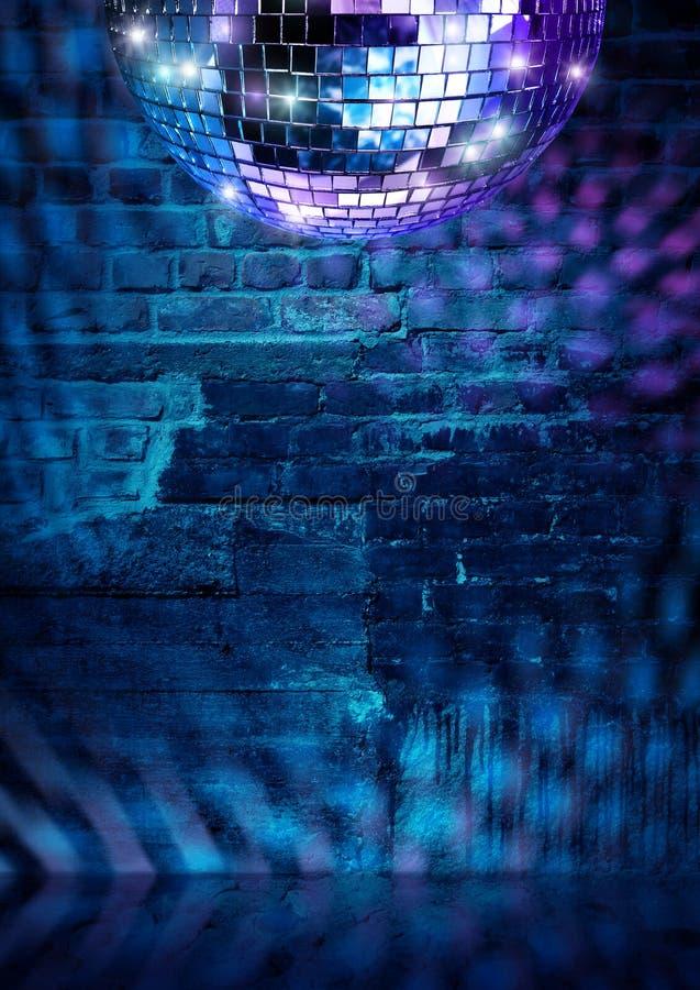 Disco τουβλότοιχος στοκ εικόνα με δικαίωμα ελεύθερης χρήσης