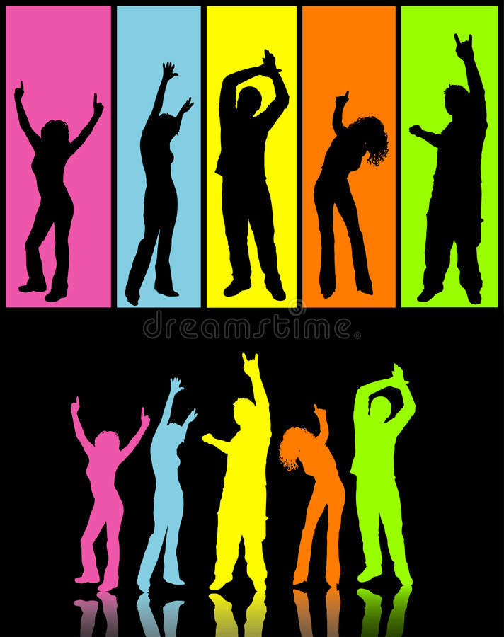 disco χορευτών απεικόνιση αποθεμάτων