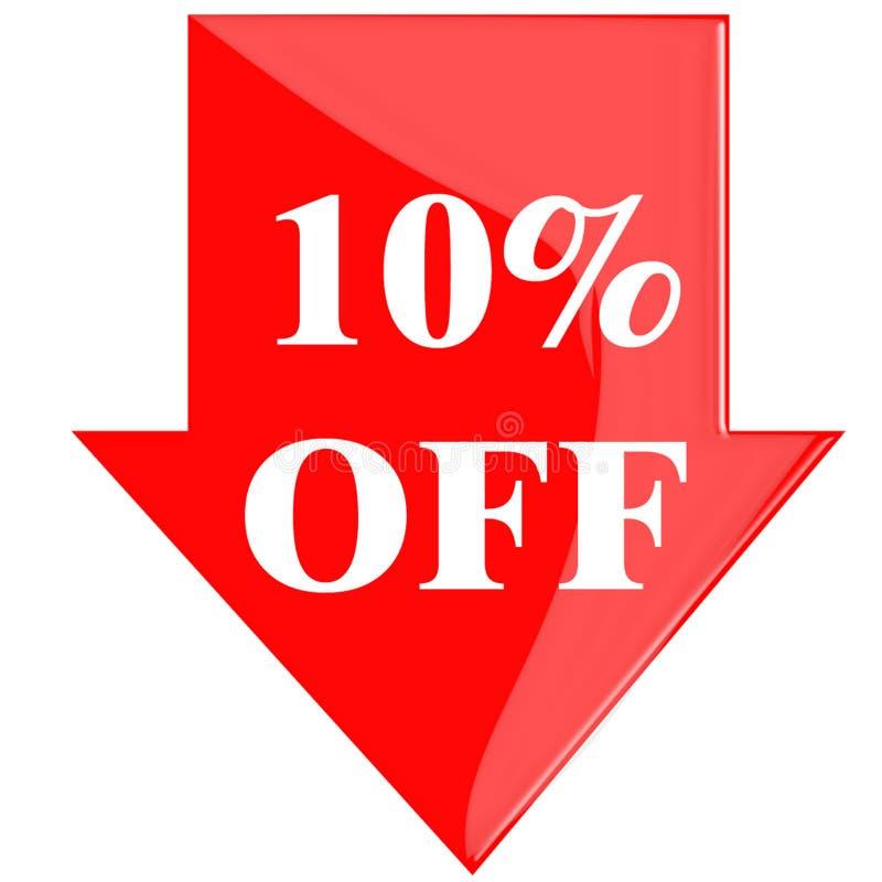 Disco 10 por cento ilustração stock