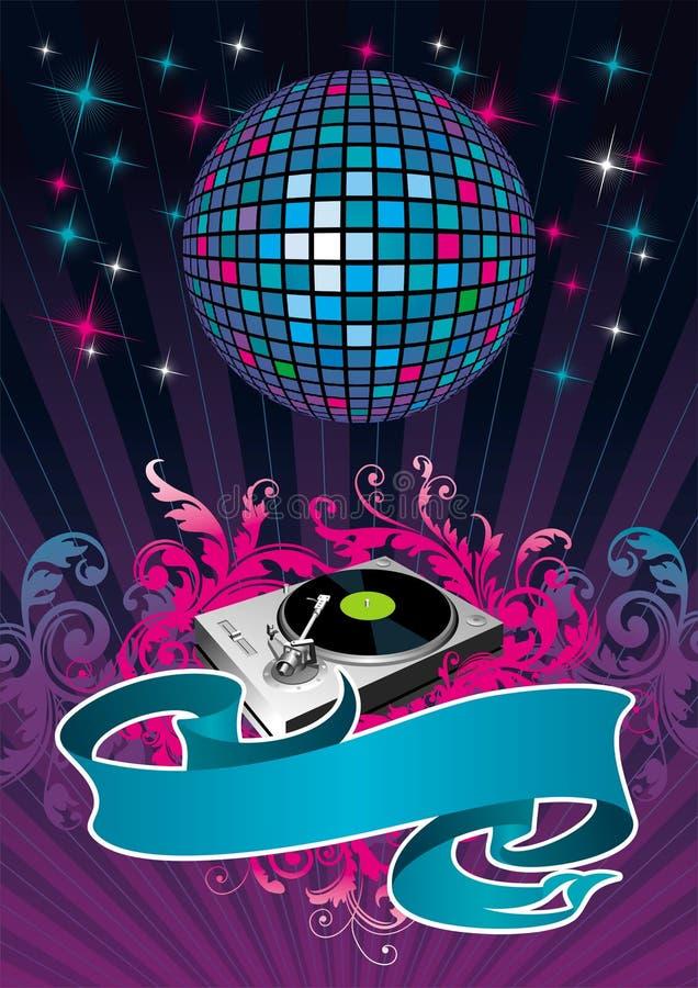 Disco illustration stock