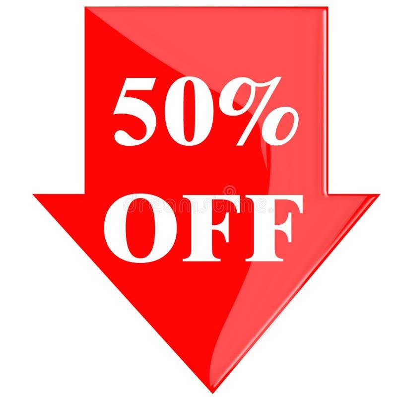 Disco 50 por cento ilustração royalty free