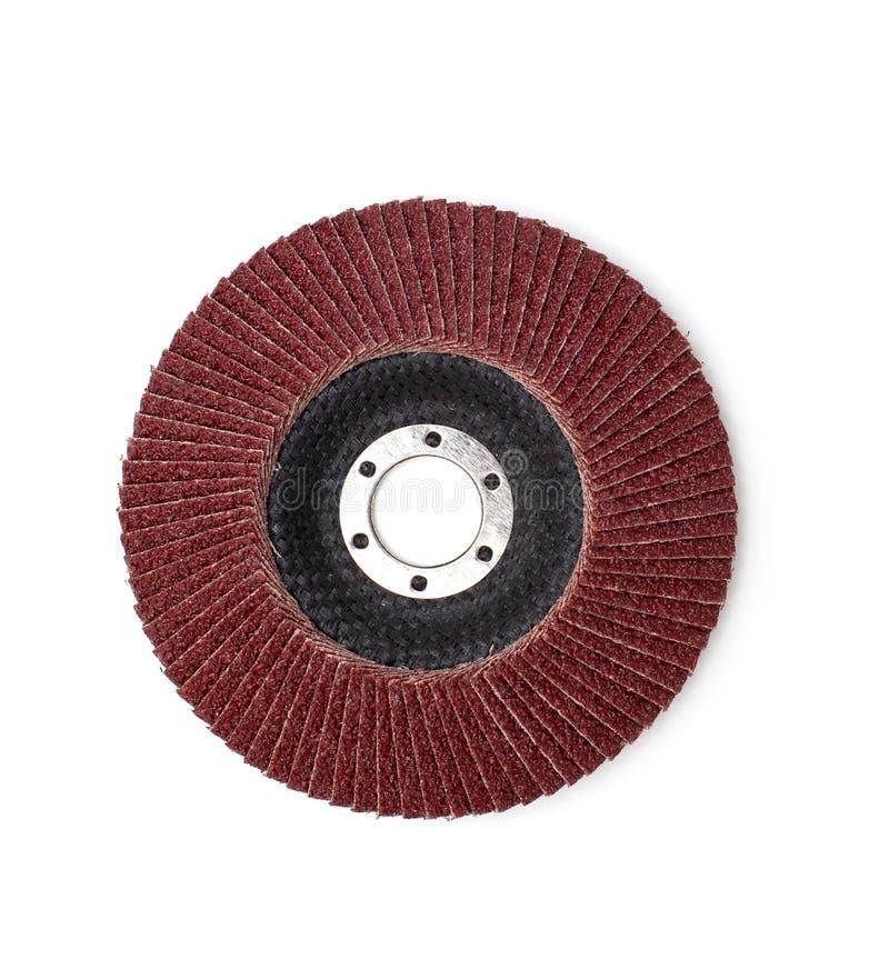 Disco abrasivo para la amoladora foto de archivo
