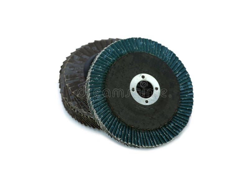 Disco abrasivo para la amoladora en el fondo blanco fotografía de archivo libre de regalías