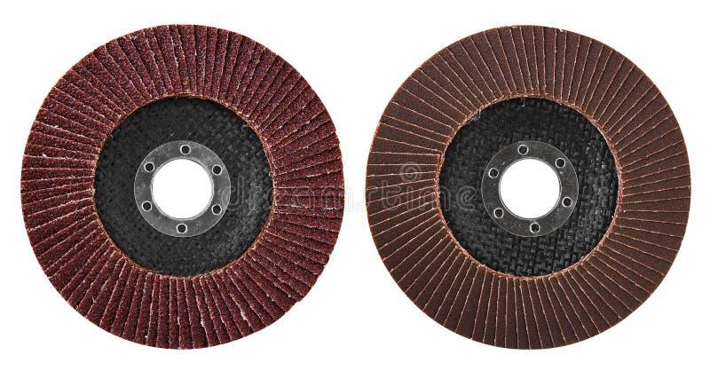 Disco abrasivo per la smerigliatrice fotografie stock libere da diritti