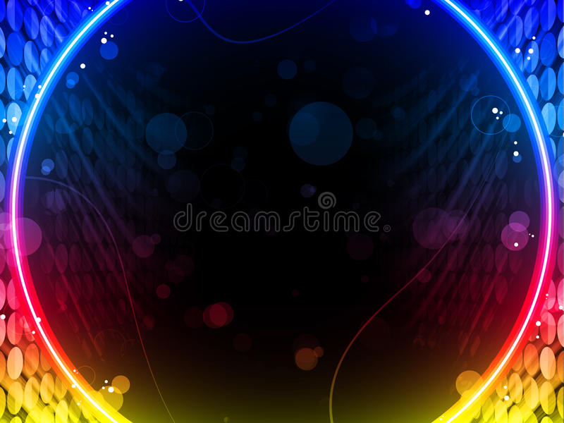 Disco Abstract Circle Box Background stock illustration