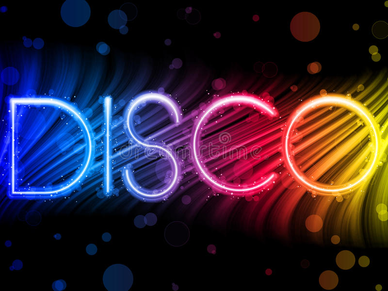 Disco Abstract Colorful Waves Royalty Free Stock Images