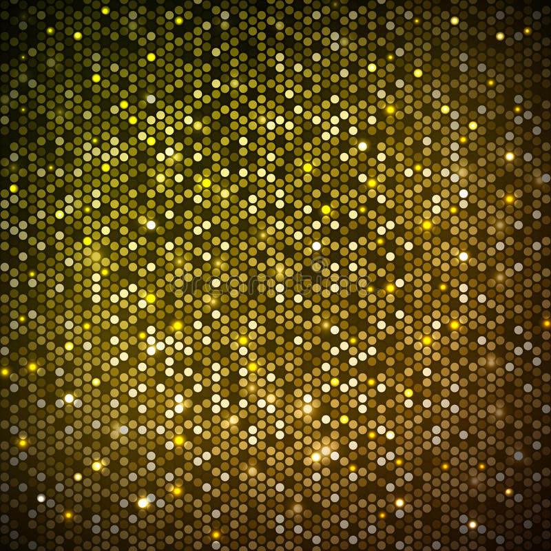 Disco abstract neon background. Disco abstract golden neon background royalty free illustration