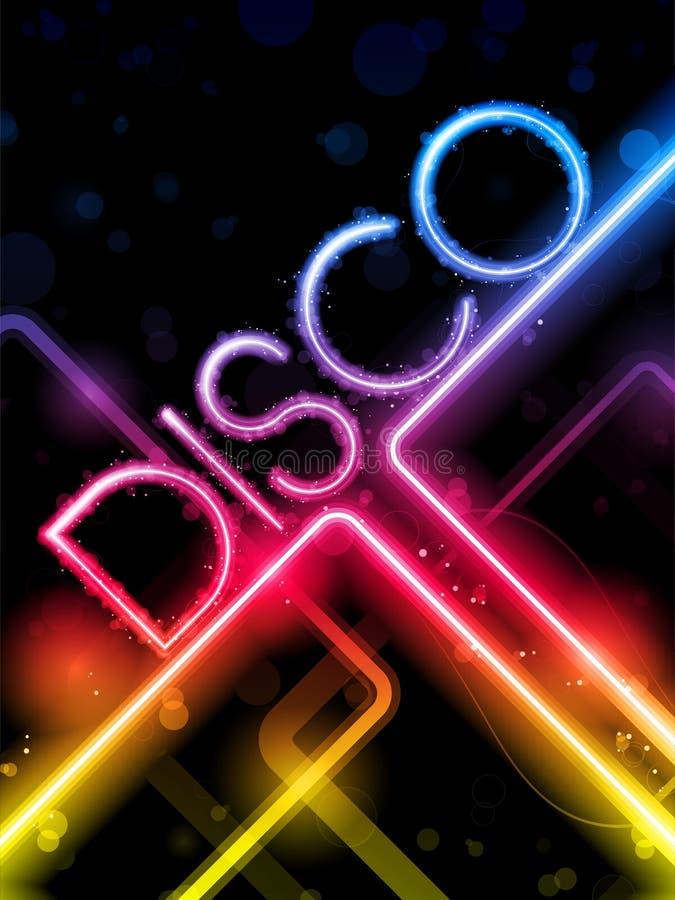 Disco Abstracte Kleurrijke Lijnen op Zwarte Achtergrond vector illustratie