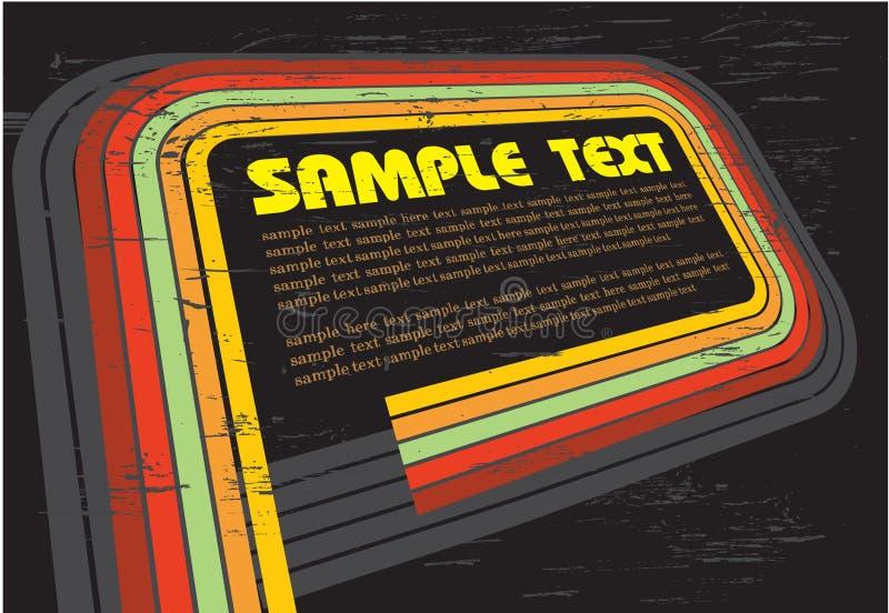 disco abstraite de noir de fond illustration libre de droits