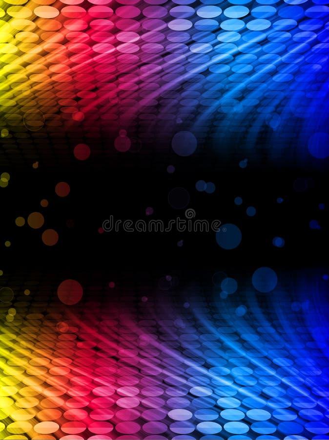 Disco-abstrakter bunter Wellen-Hintergrund vektor abbildung