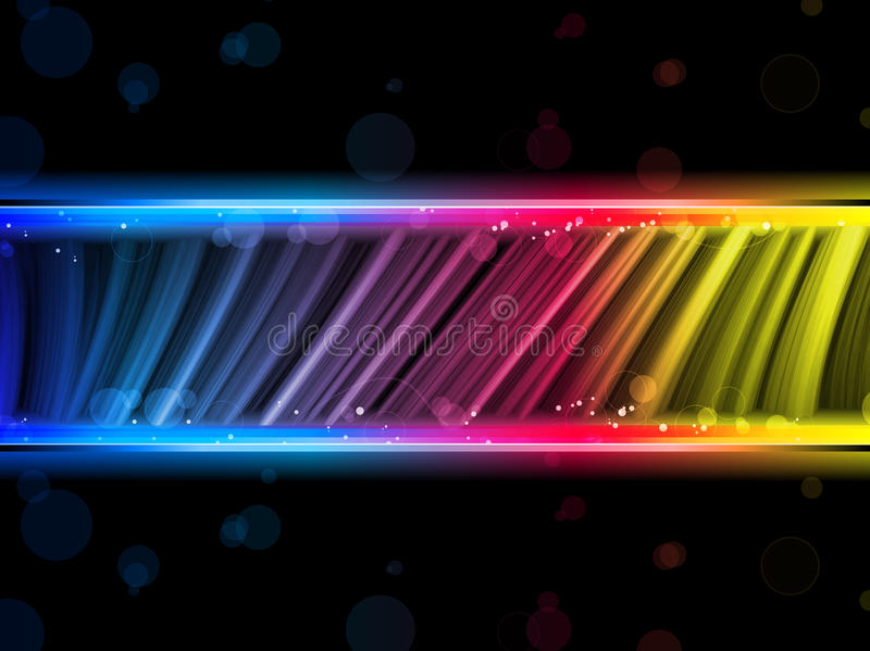 Disco-abstrakter bunter Wellen-Hintergrund lizenzfreie abbildung