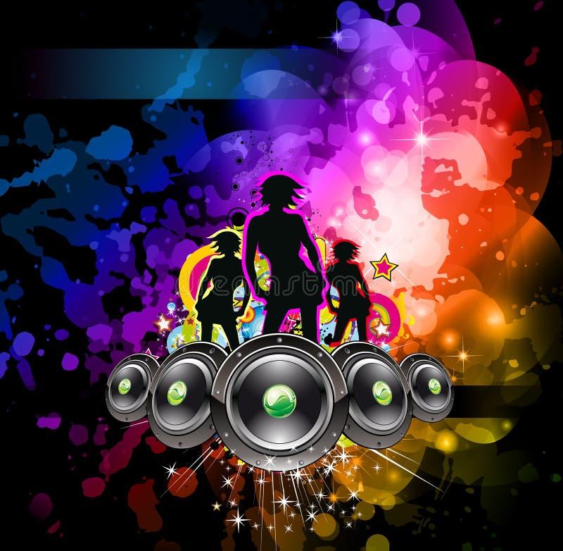 Disco Backgorund für Musik-Ereignisflugblätter stock abbildung