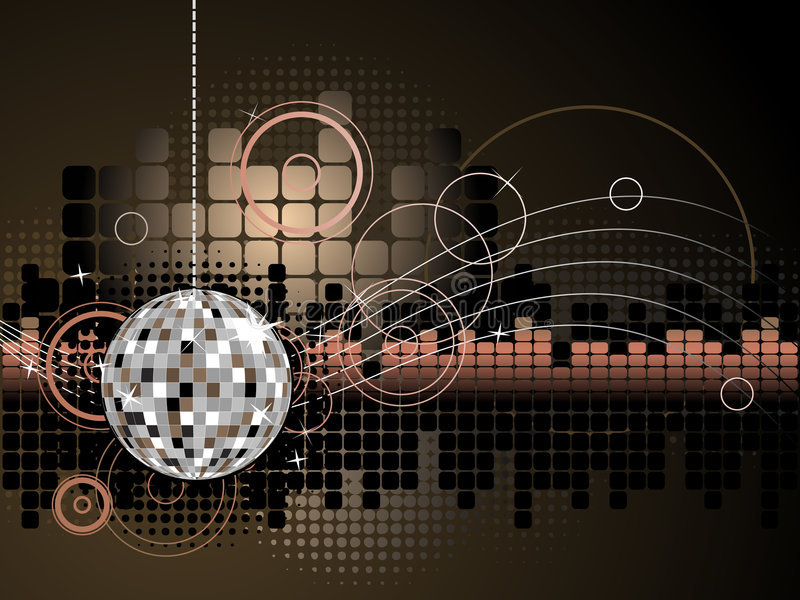 Disco Background stock illustration