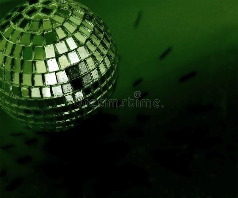 Disco ball. Spooky green disco ball background royalty free stock photos