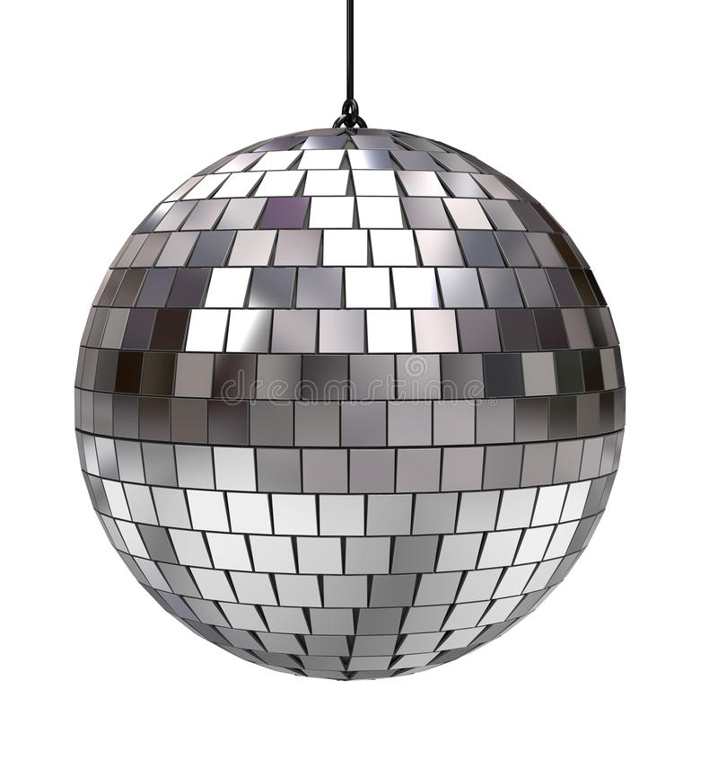 Disco ball. Isolated on white background stock illustration