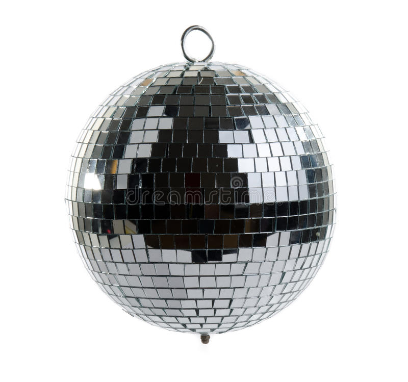 Disco ball. Isolated on white background stock photography