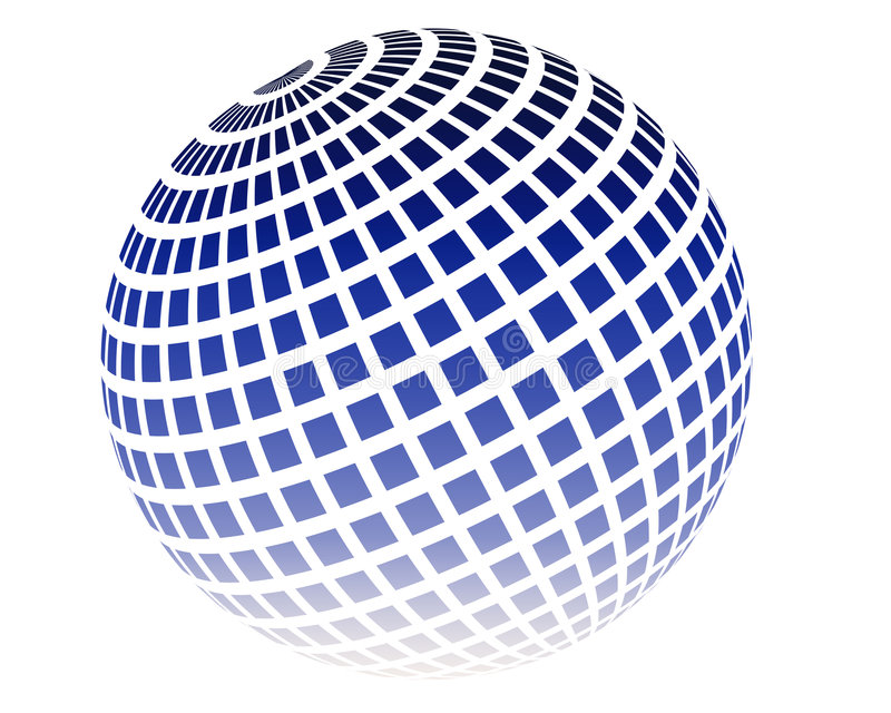 Disco ball. Gradient Disco ball on isolated background royalty free illustration