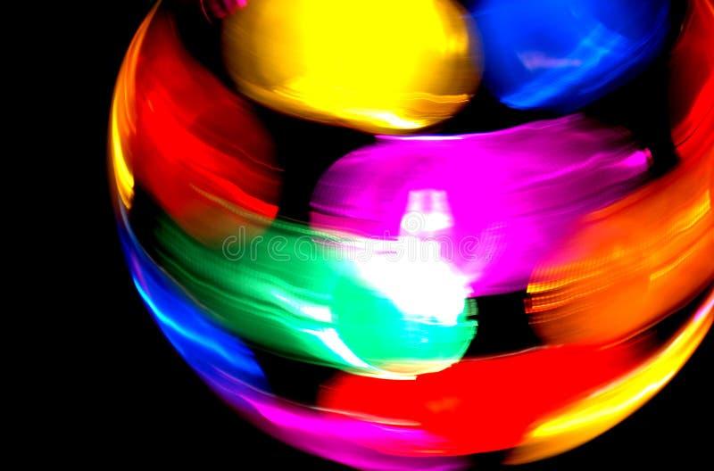 Disco Ball. Multi-colored spinning disco lighting ball