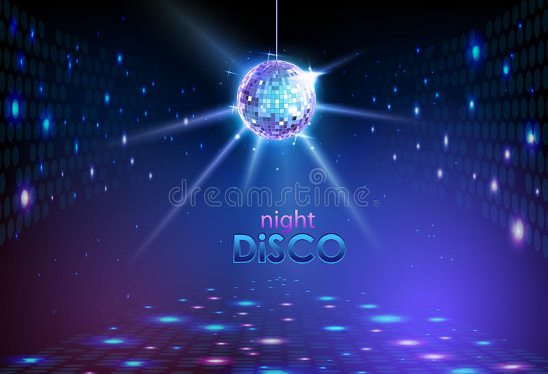 Disco ball background vector illustration
