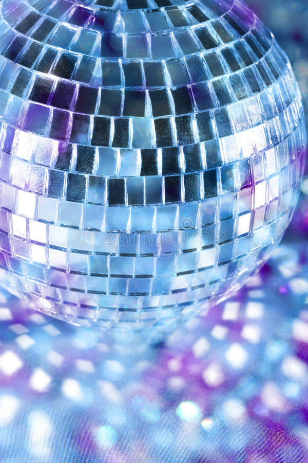 Download Disco ball in blue light stock photo. Image of mirror - 13599836
