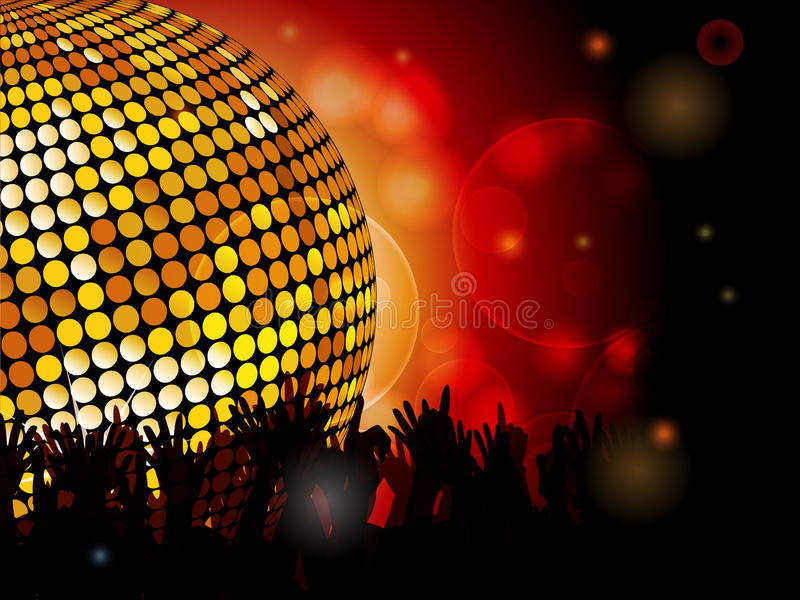 Download Disco ball and crowd stock vector. Image of club, ball - 27247583