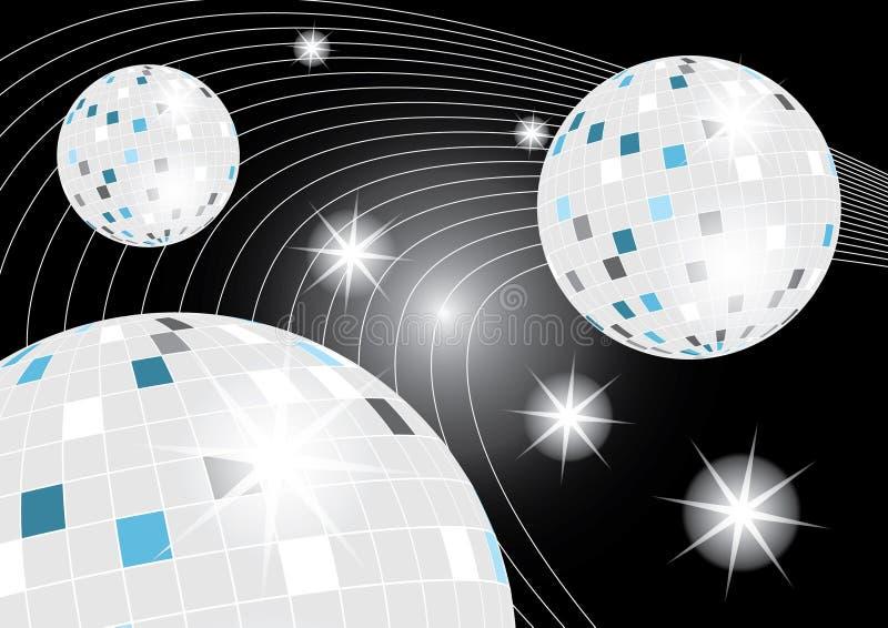 Disco Ball Galaxy. Illustration of Disco Ball Galaxy on Black stock illustration