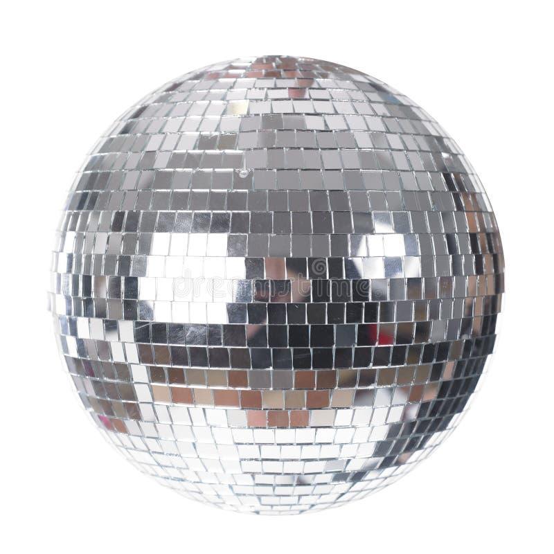 Disco Ball geïsoleerd op wit stock afbeelding
