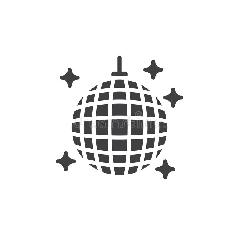 Disco Ball Icon Vector Filled Flat Sign Solid Pictogram