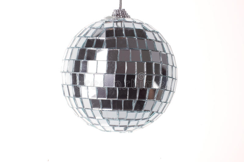 Disco ball. Isolated over white stock image