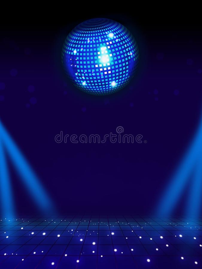 Download Disco Ball And Magic Floor. Stock Illustration - Illustration of entertainment, card: 27625403