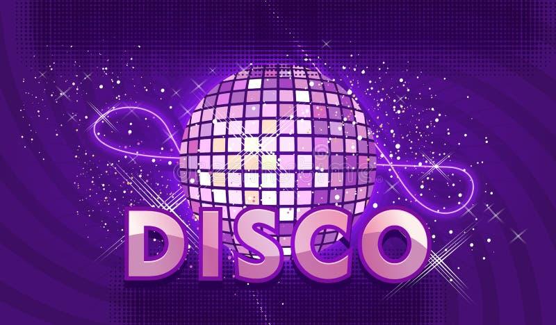 Disco ball retro stock illustration