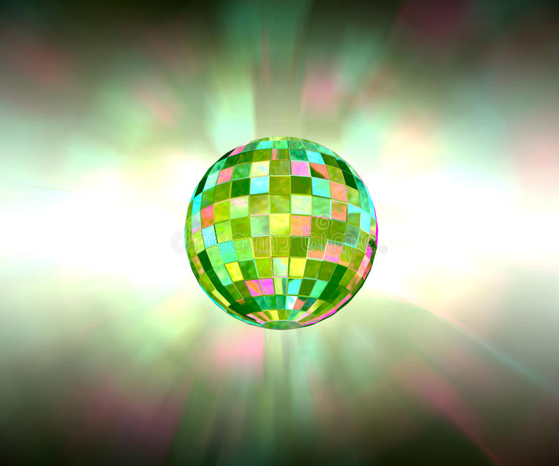 Disco ball sparkling light party background royalty free stock images