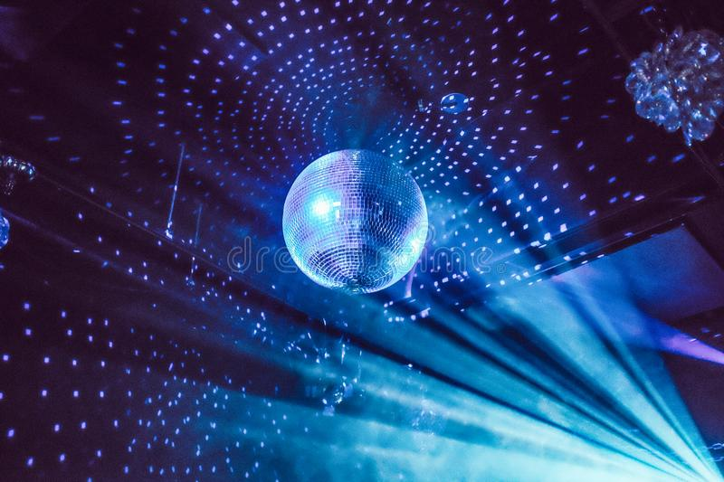 Disco ball in Tokyo club stock images
