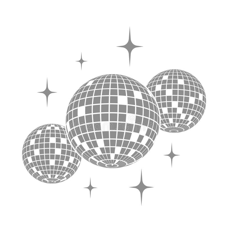 Disco ball Vector icon.  royalty free illustration