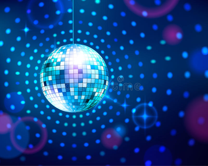 Disco ball royalty free illustration