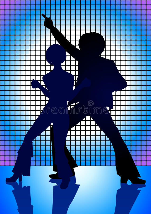 Download Disco Blue stock vector. Illustration of girl, style - 22119165