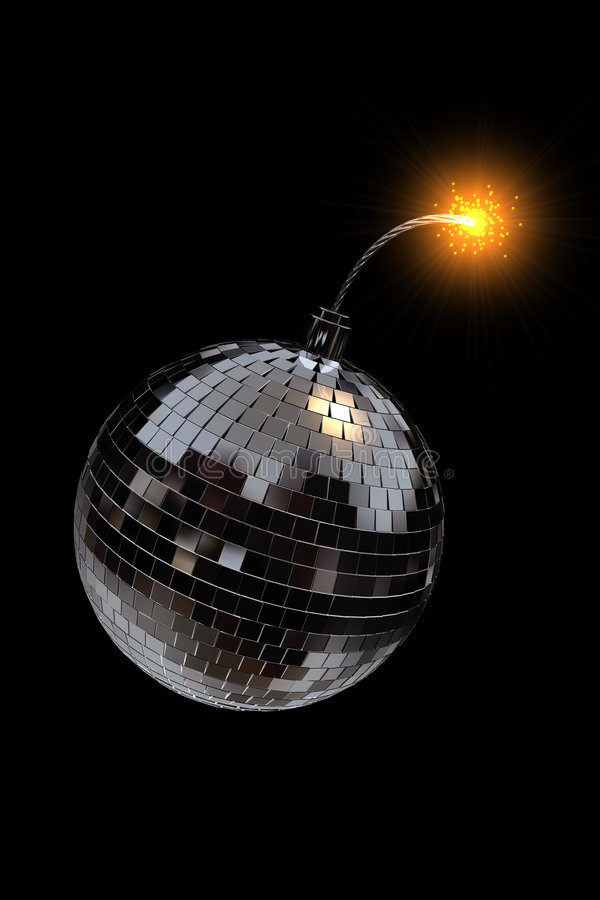 Download Disco bomb stock illustration. Image of countdown, lights - 1468851