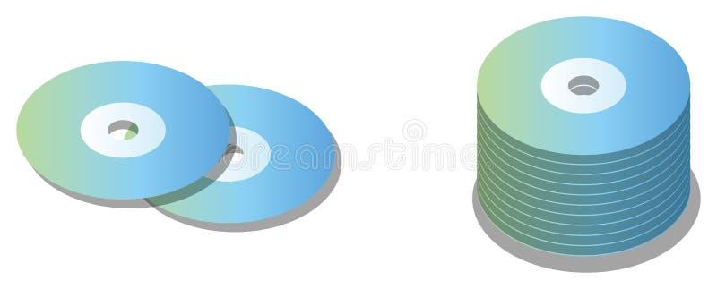 Disco CD da ROM ilustração stock